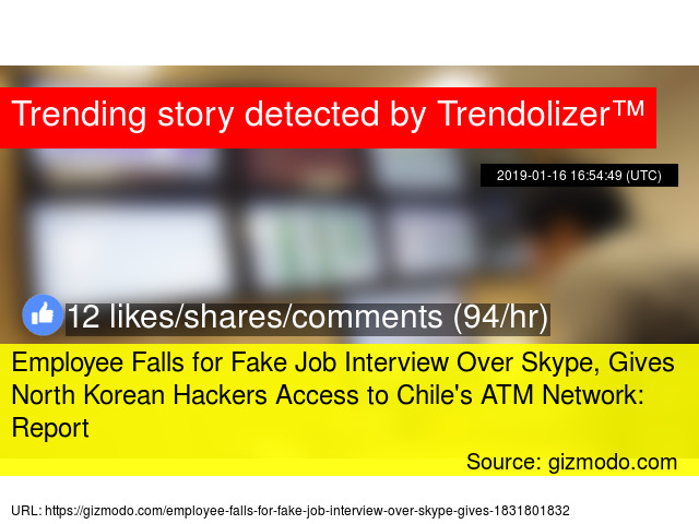 Employee Falls for Fake Job Interview Over Skype, Gives North Korean