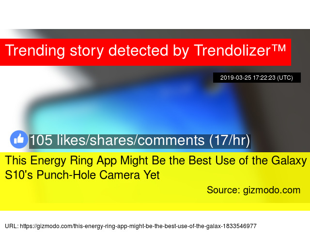 This Energy Ring App Might Be the Best Use of the Galaxy S10'