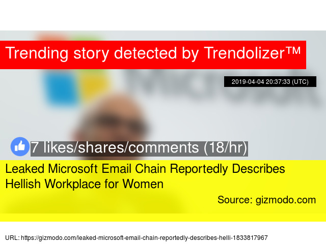 Leaked Microsoft Email Chain Reportedly Describes Hellish