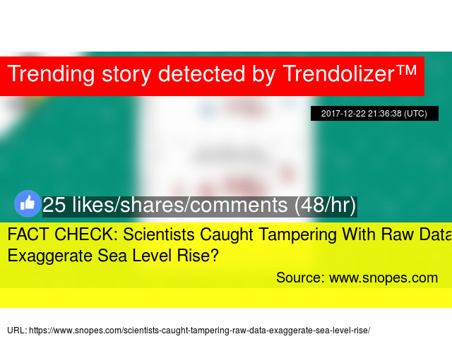 FACT CHECK Scientists Caught Tampering With Raw Data To - How to check sea level