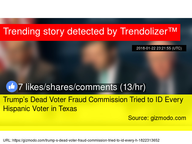 Trump's Dead Voter Fraud Commission Tried to ID Every
