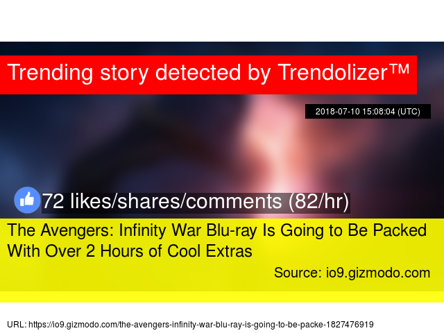 The Avengers: Infinity War Blu-ray Is Going to Be Packed With Over 2