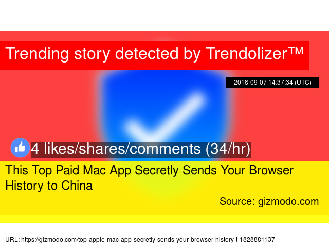 This Top Paid Mac App Secretly Sends Your Browser History to China