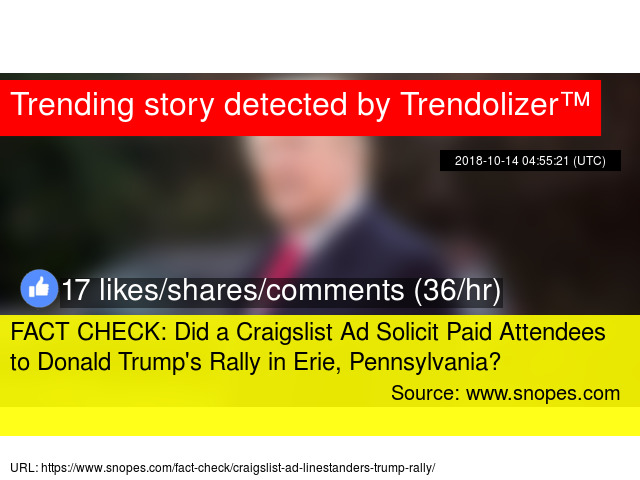 Fact Check Did A Craigslist Ad Solicit Paid Attendees To Donald